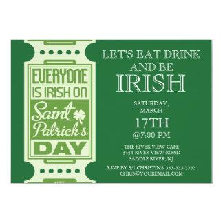 Cartão Cada é partido do dia de St Patrick do irlandês