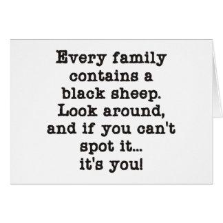 Cartão Cada família tem ovelhas negras