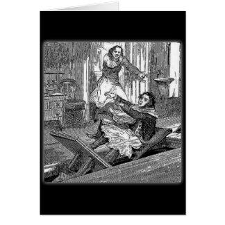 Cartão Cadeira-Moeda de um centavo dos Todd-Barbeiros de