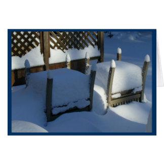 Cartão Cadeiras da neve