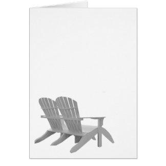 Cartão Cadeiras de Adirondack