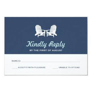 Cartão Cadeiras de praia de Adirondack que Wedding o