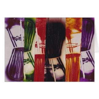 Cartão - cadeiras musicais