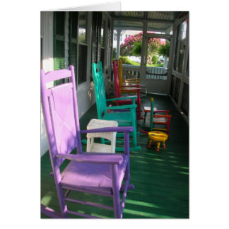 Cartão Cadeiras no patamar, Virginia Beach, VA