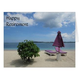 Cartão cadeiras roxas grandes