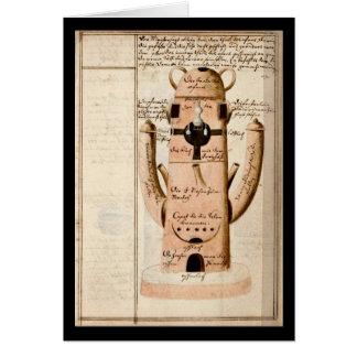 Cartão Caderno da alquimia pela placa 17 de Johann