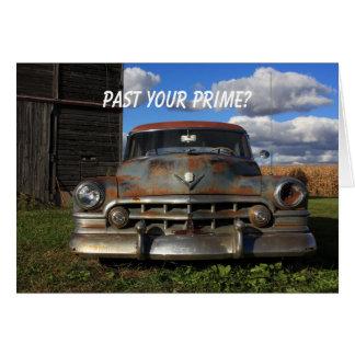 Cartão Cadillac 1950 oxidado