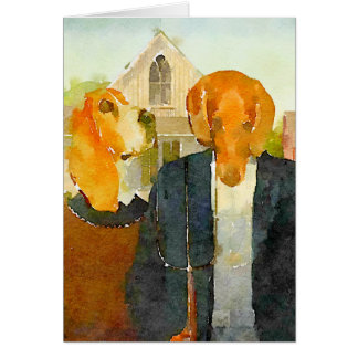 Cartão Cães da fazenda