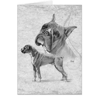Cartão Cães do pugilista