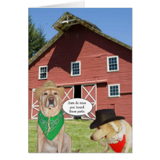 Cartão Cães engraçados customizáveis nós senhorita Você