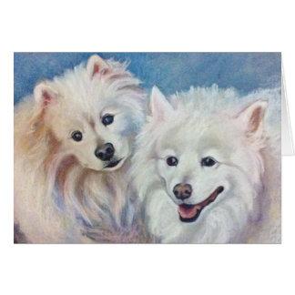 Cartão Cães Eskimo americanos