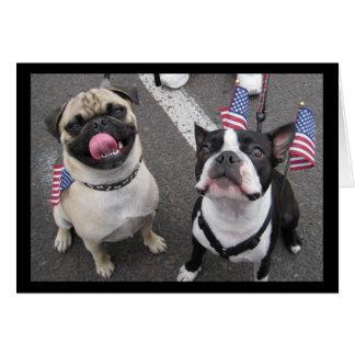 Cartão Cães patrióticos