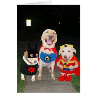 Cartão Cães super engraçados customizáveis/cartão Dia das