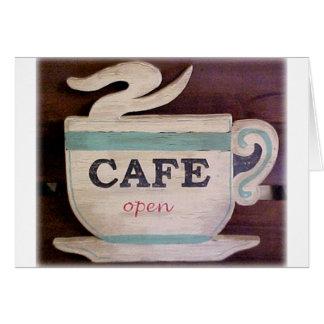 Cartão Café aberto