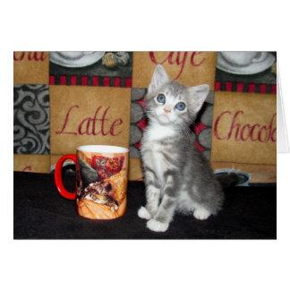 Cartão Café, chá, ou Meow