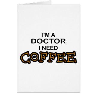 Cartão Café da necessidade - doutor