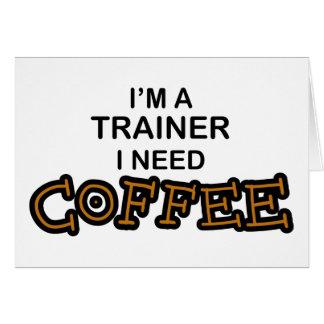 Cartão Café da necessidade - instrutor