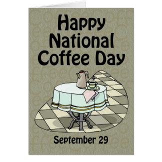 Cartão Café dia o 29 de setembro nacional