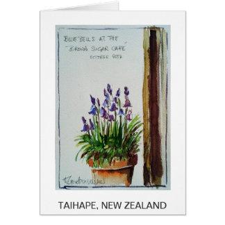 Cartão Café do açúcar mascavado, Taihape, Nova Zelândia: