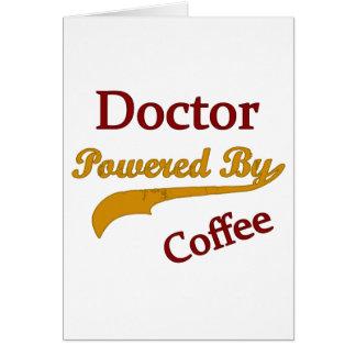 Cartão Café do doutor Powered