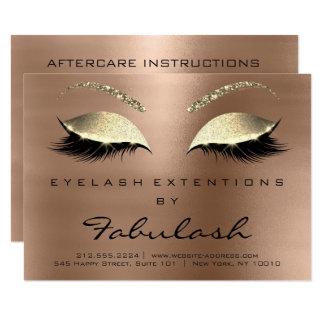 Cartão Café do ouro da instrução dos cuidados posteriores