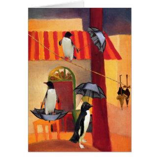 Cartão Café do pinguim