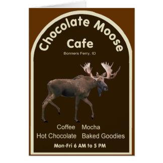 Cartão Café dos alces do chocolate