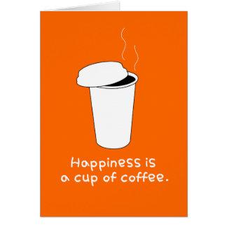 Cartão Café feliz