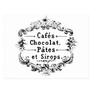 Cartão - café francês