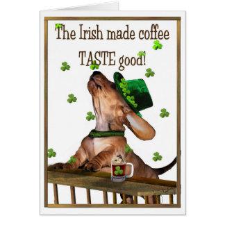 Cartão Café irlandês do dia de Patrick de santo