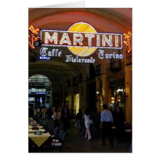 Cartão Café Martini