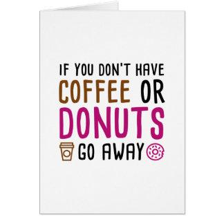 Cartão Café ou rosquinhas