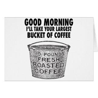 Cartão Café pelo balde