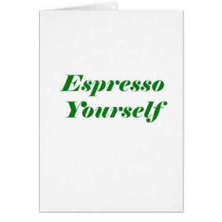 Cartão Café você mesmo
