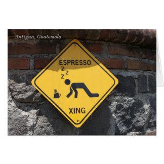 Cartão Café Xing, Antígua Guatemala