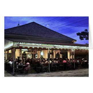 Cartão Cafetaria dos restaurantes de Nova Orleães
