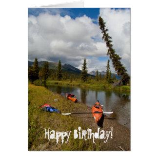 Cartão Caiaque em repouso; Feliz aniversario