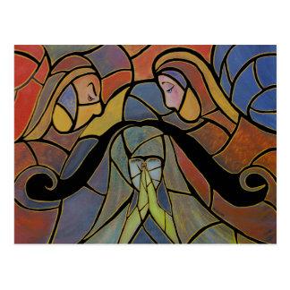Cartão caído da arte abstracta
