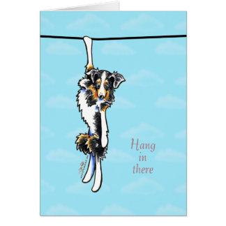 Cartão Cair australiano do pastor lá no incentivo