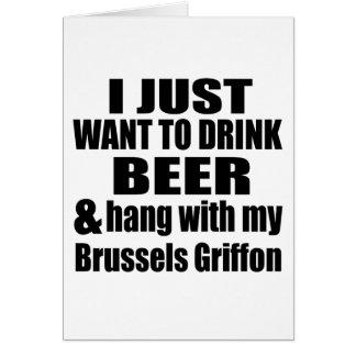 Cartão Cair com meu Bruxelas Griffon