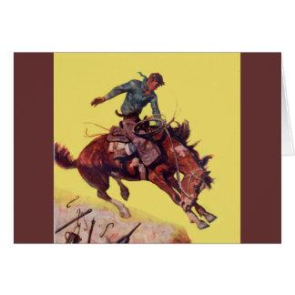 Cartão Cair no vaqueiro