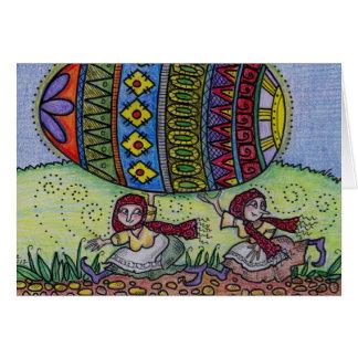 Cartão Cair sobre a sua arte popular do ucraniano de