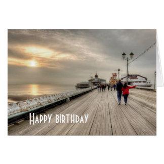 Cartão Cais litoral cénico Reino Unido de Blackpool da
