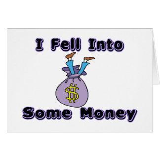 Cartão Caiu no dinheiro