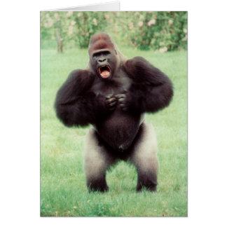 Cartão Caixa batendo do gorila do Silverback