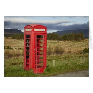 Cartão Caixa do telefone público, Ellishadder, perto de