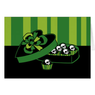 Cartão Caixa dos doces do crânio