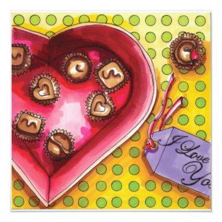 Cartão Caixa dos doces dos namorados