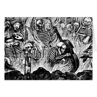 Cartão Calavera de 1900s México dos artistas e dos