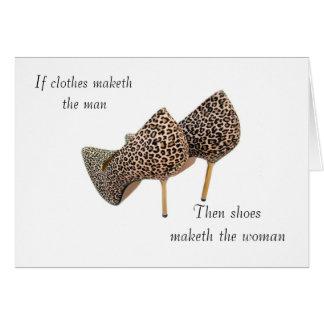 Cartão Calça o maketh a mulher